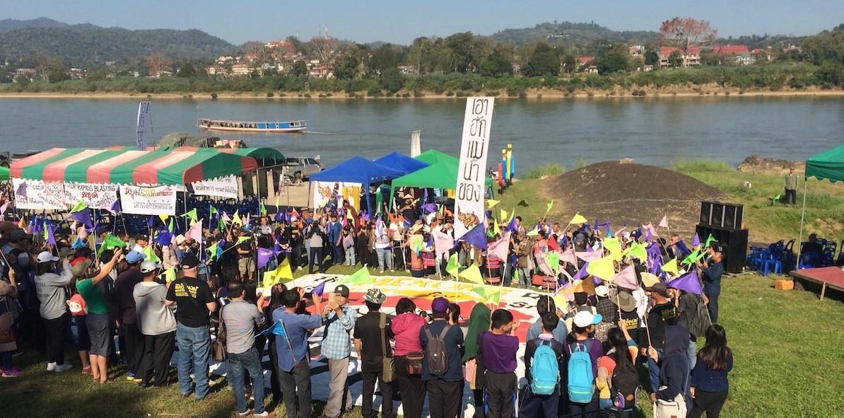 Mekong rapid blasting protest